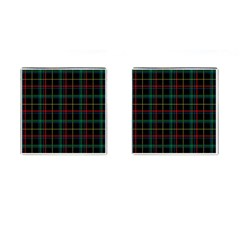 Tartan Plaid Pattern Cufflinks (square)
