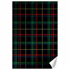 Tartan Plaid Pattern Canvas 24  X 36  by BangZart