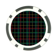 Tartan Plaid Pattern Poker Chip Card Guard (10 Pack)