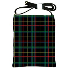 Tartan Plaid Pattern Shoulder Sling Bags by BangZart