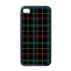 Tartan Plaid Pattern Apple Iphone 4 Case (black)