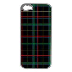 Tartan Plaid Pattern Apple Iphone 5 Case (silver)