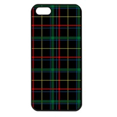 Tartan Plaid Pattern Apple Iphone 5 Seamless Case (black) by BangZart