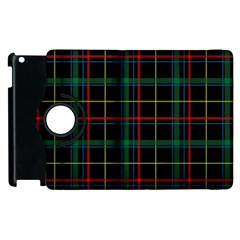 Tartan Plaid Pattern Apple Ipad 2 Flip 360 Case by BangZart