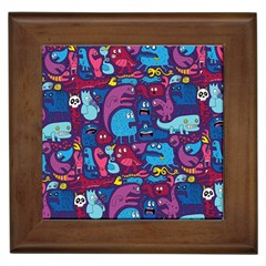 Hipster Pattern Animals And Tokyo Framed Tiles by BangZart