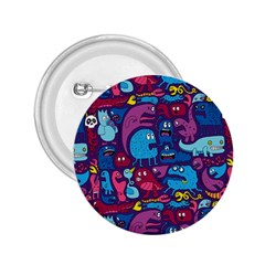Hipster Pattern Animals And Tokyo 2 25  Buttons