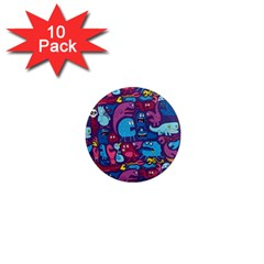 Hipster Pattern Animals And Tokyo 1  Mini Magnet (10 Pack)