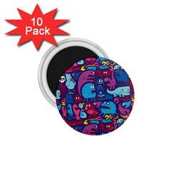Hipster Pattern Animals And Tokyo 1 75  Magnets (10 Pack)  by BangZart