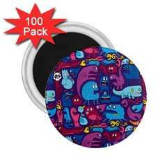Hipster Pattern Animals And Tokyo 2 25  Magnets (100 Pack)