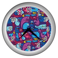 Hipster Pattern Animals And Tokyo Wall Clocks (silver)  by BangZart