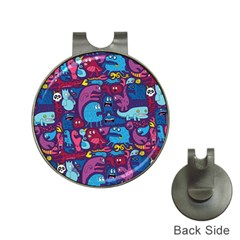 Hipster Pattern Animals And Tokyo Hat Clips With Golf Markers