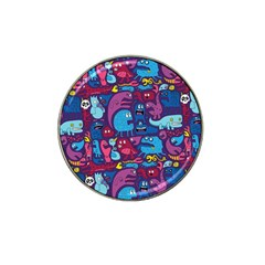 Hipster Pattern Animals And Tokyo Hat Clip Ball Marker (4 Pack) by BangZart