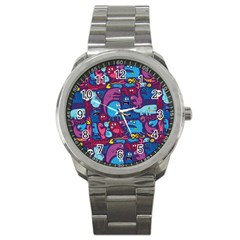 Hipster Pattern Animals And Tokyo Sport Metal Watch by BangZart