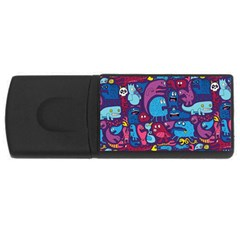 Hipster Pattern Animals And Tokyo Usb Flash Drive Rectangular (4 Gb)