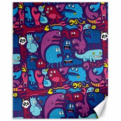 Hipster Pattern Animals And Tokyo Canvas 16  X 20