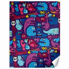 Hipster Pattern Animals And Tokyo Canvas 36  X 48   by BangZart