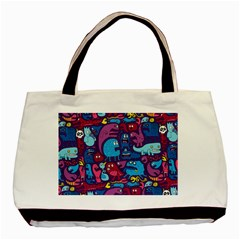 Hipster Pattern Animals And Tokyo Basic Tote Bag (two Sides) by BangZart