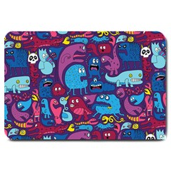 Hipster Pattern Animals And Tokyo Large Doormat  by BangZart