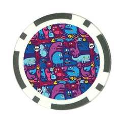 Hipster Pattern Animals And Tokyo Poker Chip Card Guard by BangZart