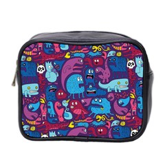 Hipster Pattern Animals And Tokyo Mini Toiletries Bag 2 Side
