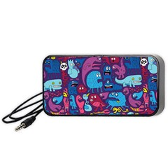 Hipster Pattern Animals And Tokyo Portable Speaker (black)