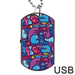 Hipster Pattern Animals And Tokyo Dog Tag Usb Flash (one Side) by BangZart