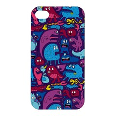 Hipster Pattern Animals And Tokyo Apple Iphone 4/4s Premium Hardshell Case by BangZart