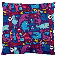 Hipster Pattern Animals And Tokyo Large Cushion Case (two Sides) by BangZart