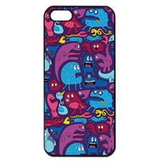 Hipster Pattern Animals And Tokyo Apple Iphone 5 Seamless Case (black)