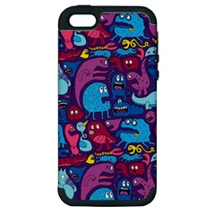 Hipster Pattern Animals And Tokyo Apple Iphone 5 Hardshell Case (pc+silicone) by BangZart