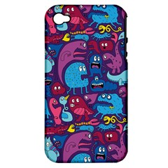 Hipster Pattern Animals And Tokyo Apple iPhone 4/4S Hardshell Case (PC+Silicone)