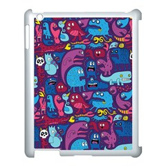 Hipster Pattern Animals And Tokyo Apple Ipad 3/4 Case (white) by BangZart