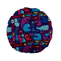 Hipster Pattern Animals And Tokyo Standard 15  Premium Round Cushions by BangZart