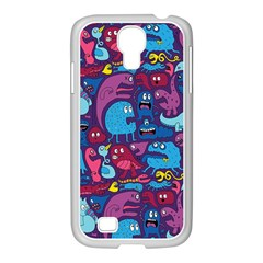 Hipster Pattern Animals And Tokyo Samsung Galaxy S4 I9500/ I9505 Case (white) by BangZart