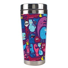Hipster Pattern Animals And Tokyo Stainless Steel Travel Tumblers by BangZart