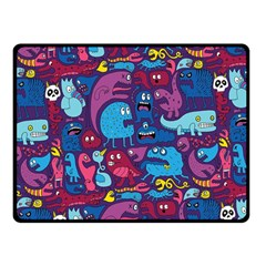 Hipster Pattern Animals And Tokyo Double Sided Fleece Blanket (small)  by BangZart