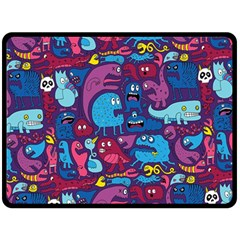 Hipster Pattern Animals And Tokyo Double Sided Fleece Blanket (large)  by BangZart