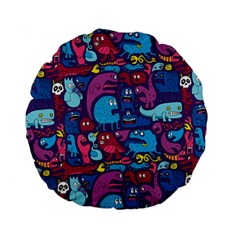 Hipster Pattern Animals And Tokyo Standard 15  Premium Flano Round Cushions by BangZart