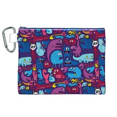 Hipster Pattern Animals And Tokyo Canvas Cosmetic Bag (xl) by BangZart