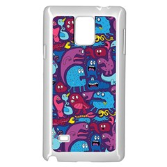 Hipster Pattern Animals And Tokyo Samsung Galaxy Note 4 Case (white) by BangZart