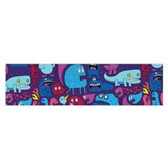 Hipster Pattern Animals And Tokyo Satin Scarf (oblong)