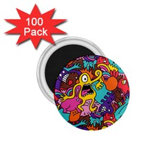 Monster Patterns 1 75  Magnets (100 Pack)  by BangZart
