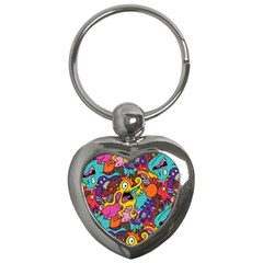 Monster Patterns Key Chains (heart)