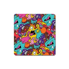 Monster Patterns Square Magnet