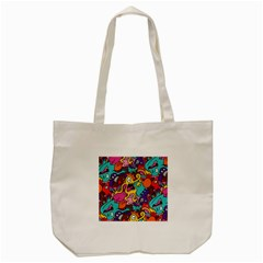 Monster Patterns Tote Bag (cream) by BangZart