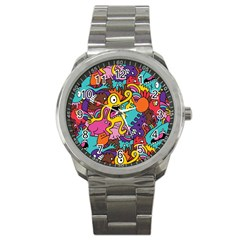 Monster Patterns Sport Metal Watch by BangZart