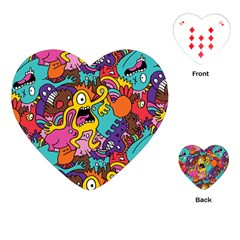 Monster Patterns Playing Cards (heart)