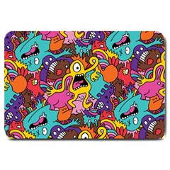 Monster Patterns Large Doormat