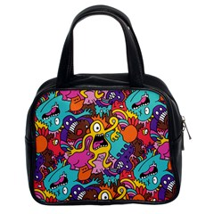 Monster Patterns Classic Handbags (2 Sides) by BangZart