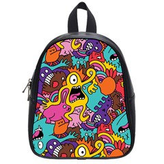 Monster Patterns School Bags (small)